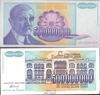 Jugoslawien Pick-Nr: 134 Bankfrisch 1993 500 Mio.Dinara - Yougoslavie