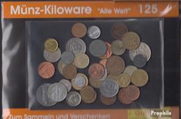 Alle Welt Briefmarken-125 Gramm Münzkiloware - Monete & Banconote