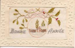 Cartes Brodées  Bonne Année  Réf 4053 - Brodées