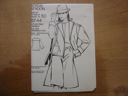 Patron Patroon VESTE EN TISSU REVERSIBLE Femmes D'aujourd'hui MODE Vintage - Patrons