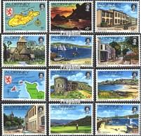 GB - Alderney 1-12 (kompl.Ausg.) FDC 1983 Ansichten - Alderney