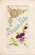 Cartes Brodées  Bonne Fête  Réf 4055 - Brodées