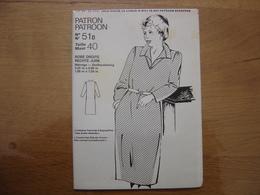 Patron Patroon ROBE DROITE Femmes D'aujourd'hui MODE Vintage - Patrons