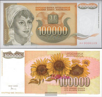 Yugoslavia Pick-number: 118 Uncirculated 1993 100 000 Dinara - Yugoslavia