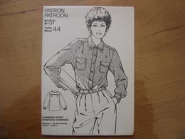 Patron Patroon CHEMISIER SPORT Femmes D'aujourd'hui MODE Vintage - Patrons
