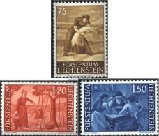 Liechtenstein 395-397 (complete Issue) Unmounted Mint / Never Hinged 1960 Clear Brands: Landscapes - Liechtenstein