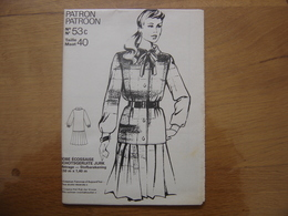 Patron Patroon ROBE ECOSSAISE Femmes D'aujourd'hui MODE Vintage - Patterns