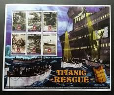 Madagascar Titanic Rescue 1998 Movie Sinking Ship Transport (sheetlet) MNH - Madagaskar (1960-...)