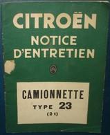 Notice Entretien CITROÊN.CAMIONETTE TYPE 23.29 Pages - KFZ