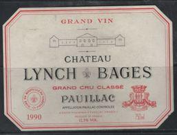 Lynch Bages Grand Cru Classé De Pauillac De 1990 - Bordeaux