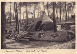 SAINT-HILAIRE DE RIEZ. - SION- Sur-l'OCEAN.   Une Tente Du Camp Marin De La S.N.C.F.    CPM Dentelée 10x15 - Saint Hilaire De Riez