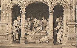 CARTE POSTALE ORIGINALE ANCIENNE SCULPTURE : SOLESMES LES PRINCIPAUX PERSONNAGES AU TOMBEAU DE LA VIERGE 1553  NORD (59) - Vierge Marie & Madones