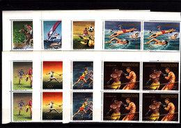 RWANDA - **/MNH - 1984 - LOS ANGELES OLYMPICS - Mi 1275/82 - BLOCS OF 4 - 1980-89: Mint/hinged