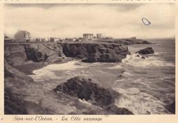SAINT-HILAIRE DE RIEZ. - SION- Sur-l'OCEAN.   La Côte Sauvage.    CPM Dentelée 10x15 RARE - Saint Hilaire De Riez