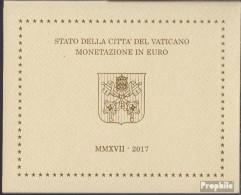 Vatikanstadt 2017 Stgl./unzirkuliert Amtlicher Kursmünzensatz Stgl./unzirkuliert 2017 Euro-Nachauflage - Vaticaanstad