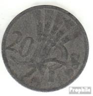 Böhmen Und Mähren Jägernr: 621 1940 Sehr Schön Zink 1940 20 Heller Wappenlöwe - [ 4] 1933-1945 : Third Reich