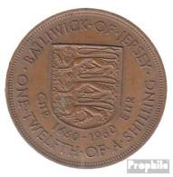 GB - Jersey KM-Nr. : 23 1960 Vorzüglich Bronze 1960 1/12 Shilling Elizabeth II. - Jersey