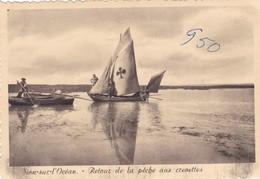 SAINT-HILAIRE DE RIEZ. - SION- Sur-l'OCEAN.  Retour De La Pêche Aux Crevettes.    CPM Dentelée 10x15 Pas Courante - Saint Hilaire De Riez