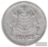 Monaco Km-number. : 121 1945 Extremely Fine Aluminum-Bronze Extremely Fine 1945 2 Francs Louis II. - Monaco