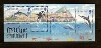 Gibraltar Yvertn° Bloc 32 *** MNH Cote 8,50 Euro Faune Marine - Gibraltar