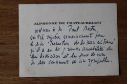 Autographe Alphonse De Chateaubriant 1877 1951 - Autographs