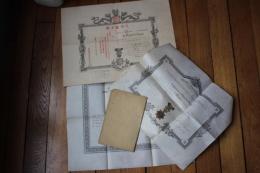 Lot Diplomes  Colonial/ Legion D'Honneur  Ordre   General Simon BERTIN - Diplomi E Pagelle