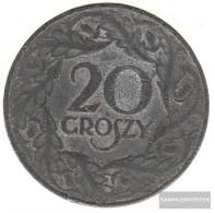 General Jägernr: 626 1923 Very Fine Zinc Very Fine 1923 20 Groszy Eagle Crest - Coins & Banknotes
