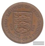 United Kingdom - Jersey Km-number. : 23 1960 Extremely Fine Bronze Extremely Fine 1960 1/12 Shilling Elizabeth II. - Jersey