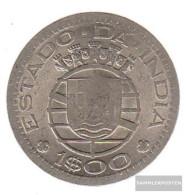 Portuguese-India Km-number. : 33 1959 Very Fine Copper-Nickel Very Fine 1959 1 Escudu Crest - Portugal