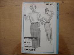 Patron Patroon JUPE 1984 Femmes D'aujourd'hui 40 MODE Vintage - Patrons