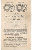 EXTRAIT DU CATALOGUE GENERAL De H. JAMAIN -- ROSIERS -- P P Dans Un Rectangle Rouge + Obli. MONTEREAU 13 MARS1866 - 1849-1876: Période Classique