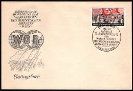 DDR SC #235 1955 International Trade Union Congress FDC 03-15-1955 - [6] Democratic Republic