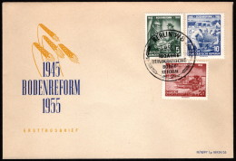 DDR SC #255-7 1955 Land ReformProgram FDC 09-03-1955 - FDC: Covers