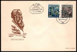 DDR SC #259-264 1955 Friedrich Engels, 135th Birth Anniv. FDC 11-07-1955 - [6] Democratic Republic
