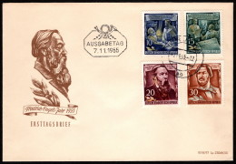 DDR SC #260-3 1955 Friedrich Engels, 135th Birth Anniv. FDC 11-07-1955 - FDC: Covers