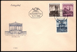 DDR SC #265,7,270 1955 German Buildings FDC 11-14-1955 - FDC: Covers
