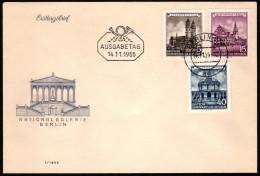 DDR SC #265,7,270 1955 German Buildings FDC 11-14-1955 - [6] Democratic Republic
