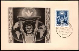 "DDR SC #258 1955 ""People's Solidarity"" Commemorative Card 12-29-1955 - [6] Democratic Republic"