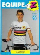 Sport  - CYCLISME -Equipe Z  (vêtements) Greg LEMOND  Saison 90 (1990) *PRIX FIXE - Cycling
