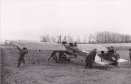 Photo S.A.F.A.R.A. 9 X 14 Cm - 25 Mars 1914 - L'Inventeur ORS Saute En Parachute Depuis Le Deperdussin De Lemoine - Aviation