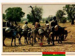 BURKINA FASO Province De Sanimatenga Le Deplacement Ou Le Demenagement De La Famille A Dos D'ane - Burkina Faso