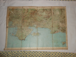 Carte Topographique Du Var. Toilée. - Topographical Maps