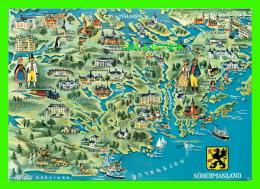 MAP - CARTES GÉOGRAPHIQUES - SODERMANLAND - SUÈDE - CIRCULÉE EN 1970 - - Cartes Géographiques