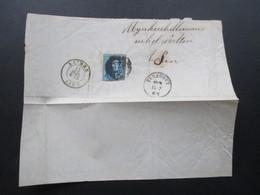 Belgien 1862 Briefstück / Brief Vorderseite Nummernstempel 122. Livrre Und Turnhout - 1849-1865 Medallions (Other)