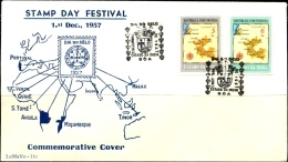 PORTUGUESE INDIA-COMMEMORATIVE COVER-SET OF 2 ON  COVER -1957-SCARCE-BX1-374 - Portuguese India