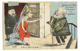 CPA DESSIN MILLE C'EST LA FAUTE DU SHAH Russie Caricature Politique Satirique Illustrateur - Sátiras