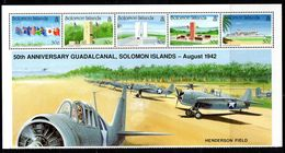 Solomon Islands 1999 WWII Veterans Millenium Visit Sheetlet Of 5, MNH, SG 956/60 (B) - Salomoninseln (Salomonen 1978-...)