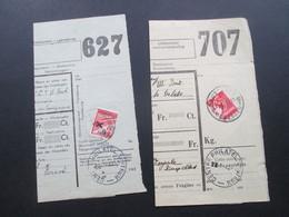 Belgien 1940 Und 42 Postpaketmarke Nr. 13 Halbierung Zu Militärzwecken!! Paketkarten ?!? - Militares (Sellos M)
