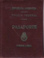 ARGENTINA L'ARGENTINE POLICIA POLICE 1954 MASCULINO MALE PASAPORTE PASSPORT REISEPASS PASSAPORTO.-TBE-BLEUP - Historische Dokumente