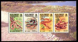 Solomon Islands 2001 Chinese New Year Of The Snake Overprint MS, MNH, SG 995 (B) - Salomoninseln (Salomonen 1978-...)